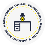 Happy Desk - Sticker blanco (Transparencia)